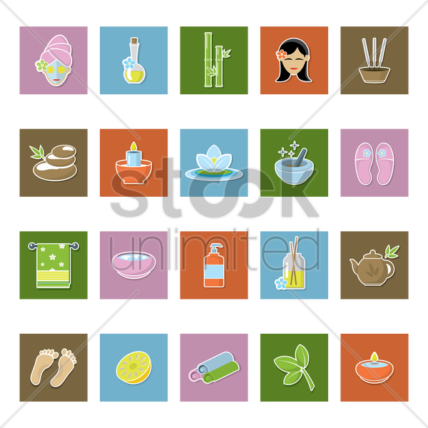 spa collection vector graphic