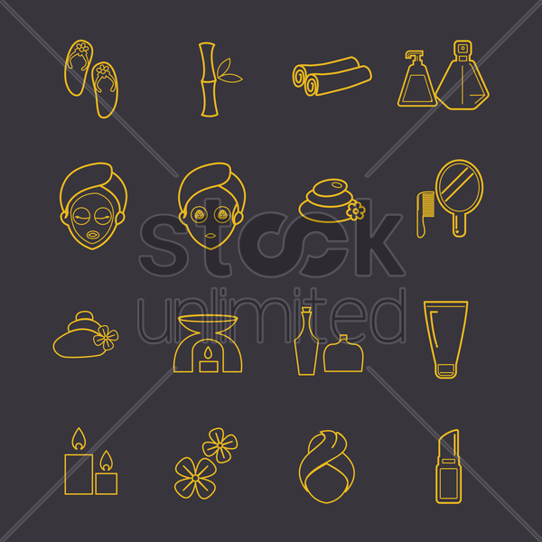 Free spa icons vector graphic