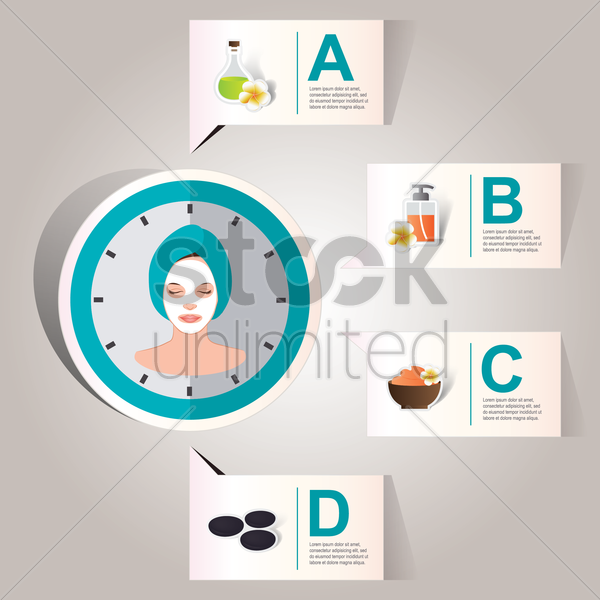 spa infographic vector graphic