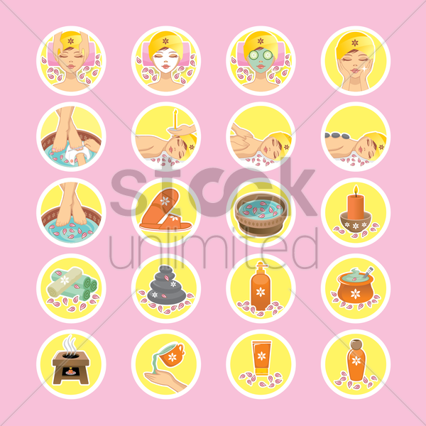 spa items vector graphic