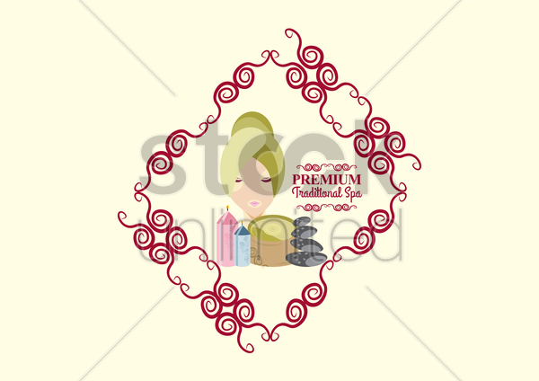 spa product vector graphic
