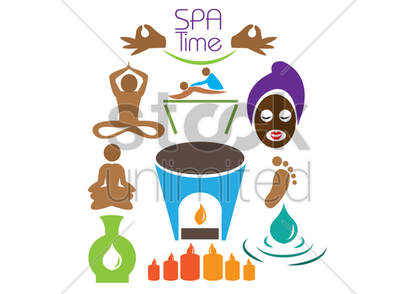 spa time vector graphic