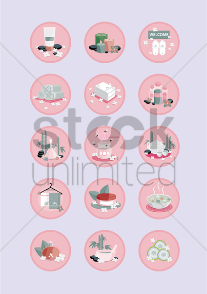 spa treatment vector graphic