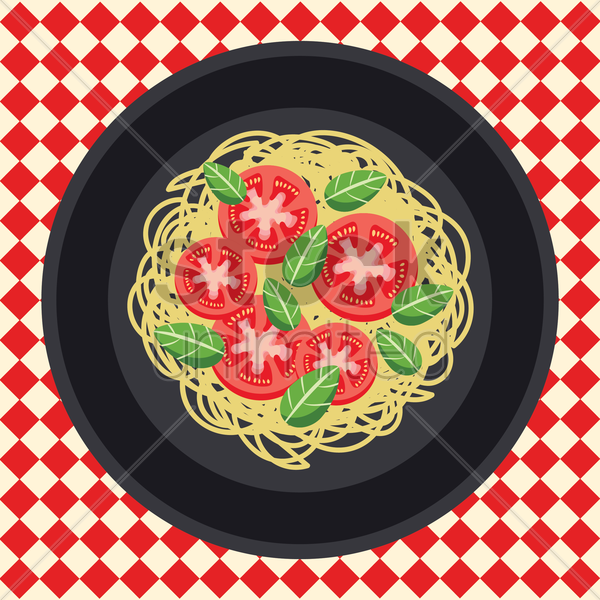 spaghetti vector graphic