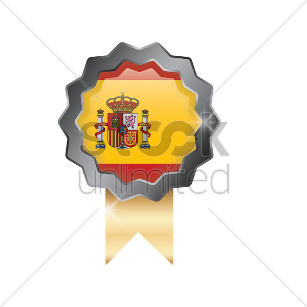 spain flag icon vector graphic