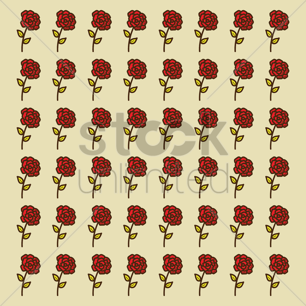 Free spain flowers pattern background vector graphic