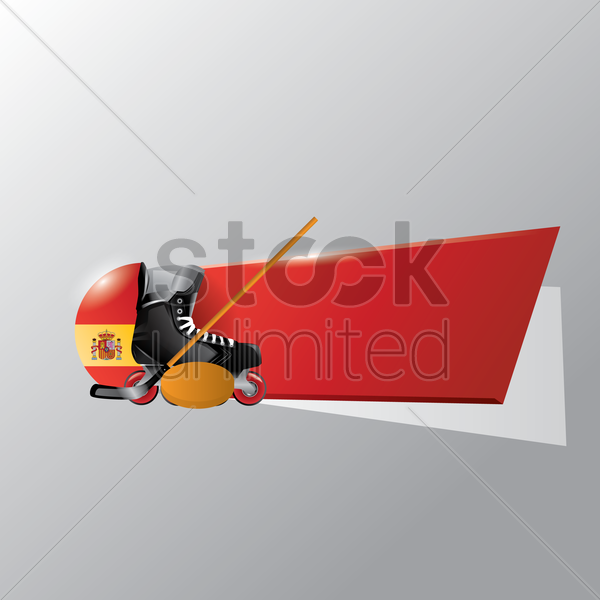 spain ice hockey banner vector graphic