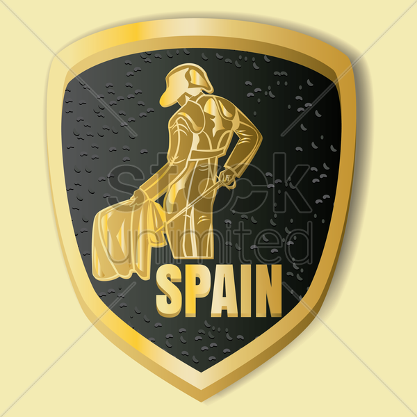 spain label vector graphic