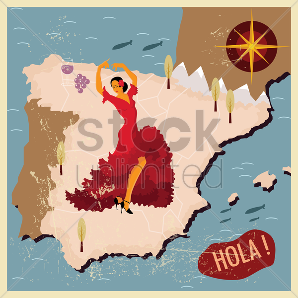 spain map wallpaper vector graphic