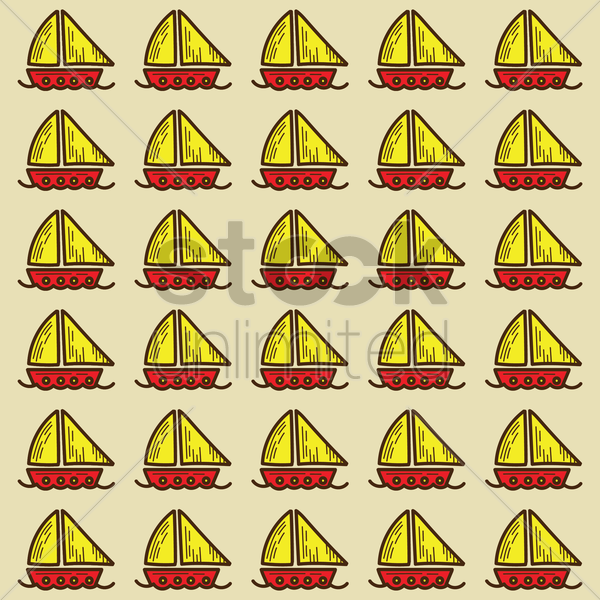 spain sailboats pattern background vector graphic