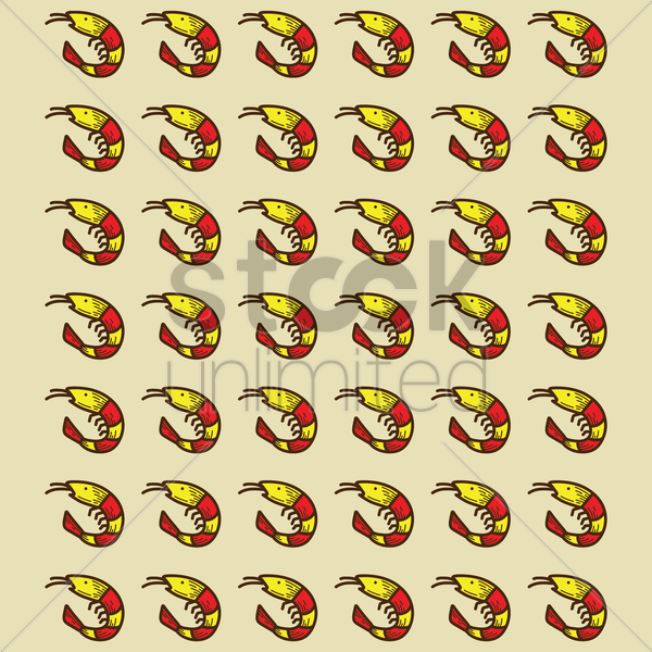 spain shrimps pattern background vector graphic