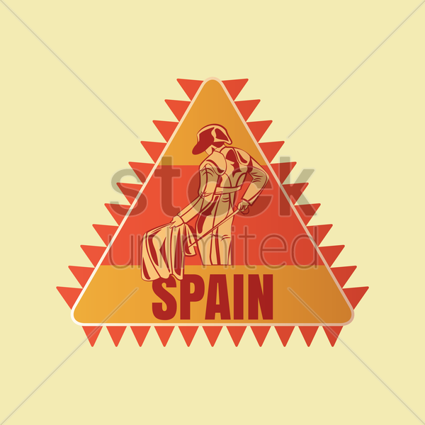 spain sticker vector graphic