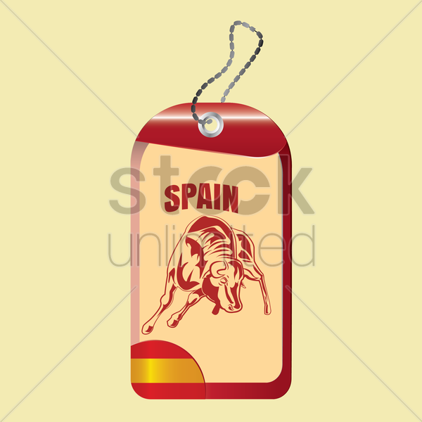 spain tag vector graphic