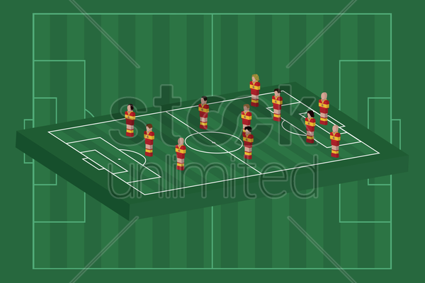 spain team formation vector graphic