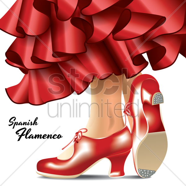 spanish flamenco vector graphic