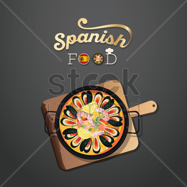 spanish food wallpaper vector graphic