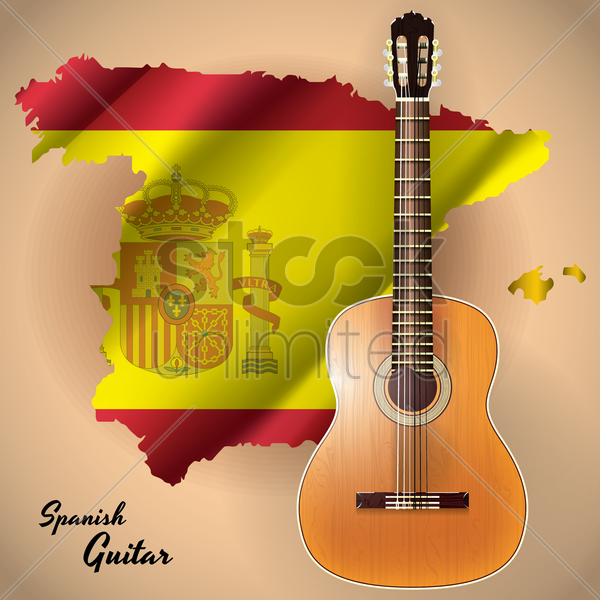 spanish guitar vector graphic