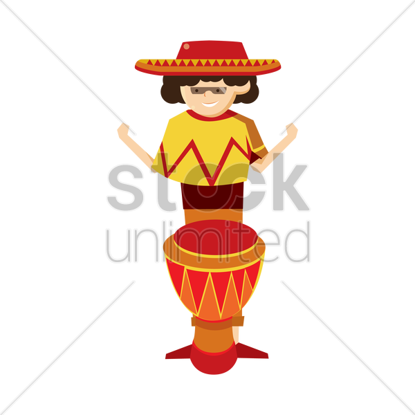 spanish musician vector graphic