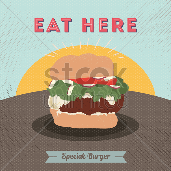 special burger poster vector graphic