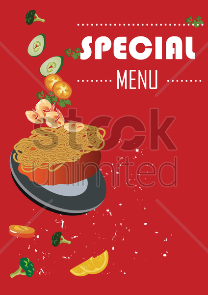 special menu poster vector graphic
