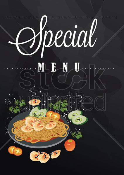 special menu with copy space vector graphic