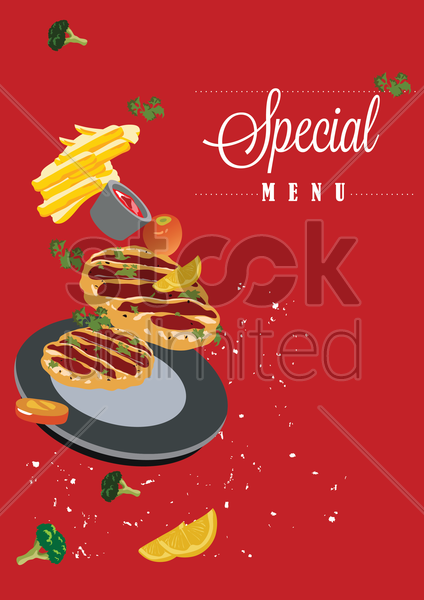 special menu vector graphic