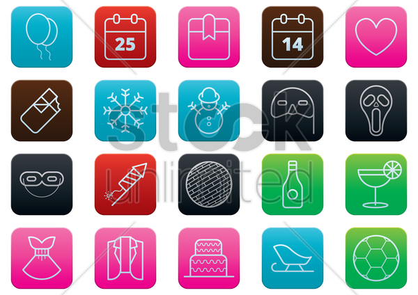 special occasion buttons vector graphic