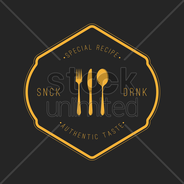 special recipe label vector graphic