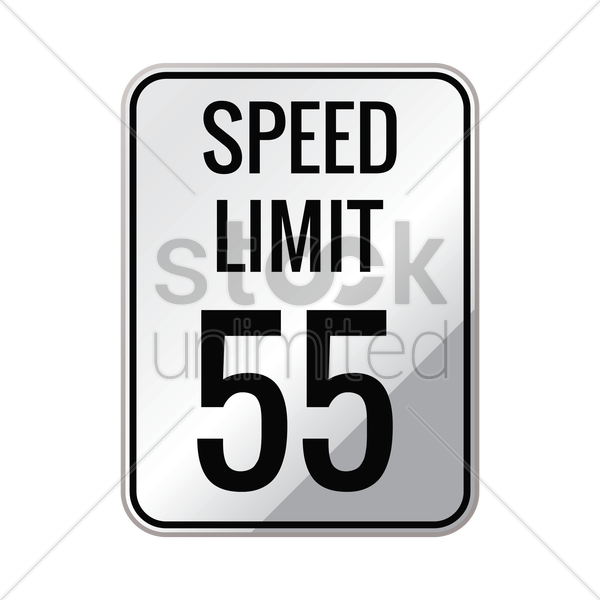 speed limit 55 sign vector graphic