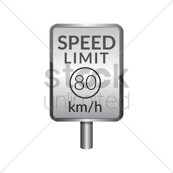speed limit 80 signboard vector graphic