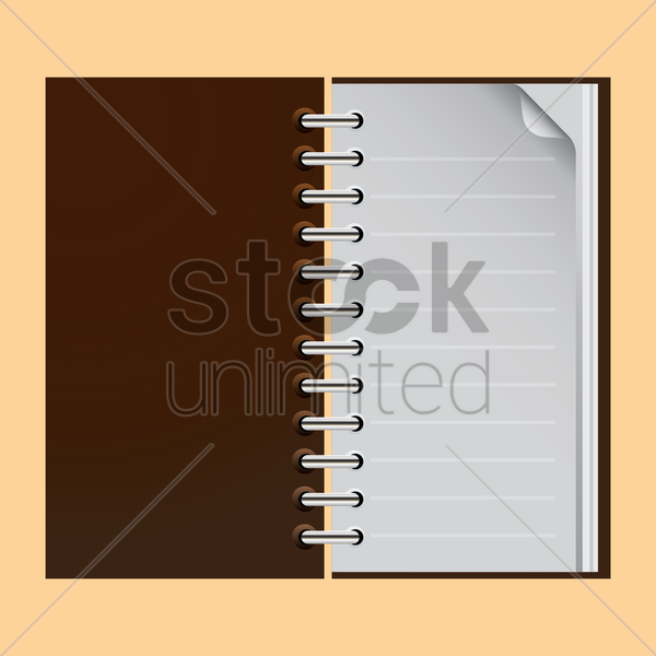 Free spiral notebook vector graphic