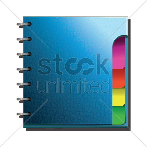 spiral notebook vector graphic