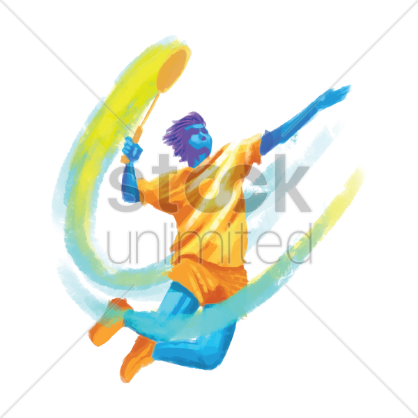 sports competition badminton vector graphic