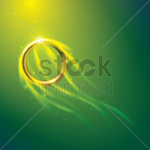 sports competition banner with flaming gymnastic ring vector graphic