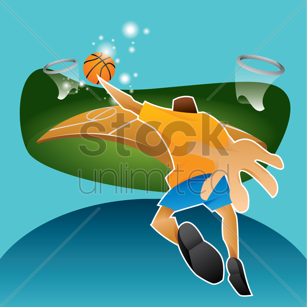 sports competition basketball vector graphic