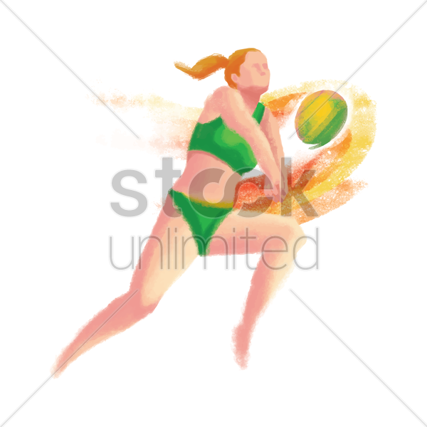 sports competition beach volleyball vector graphic