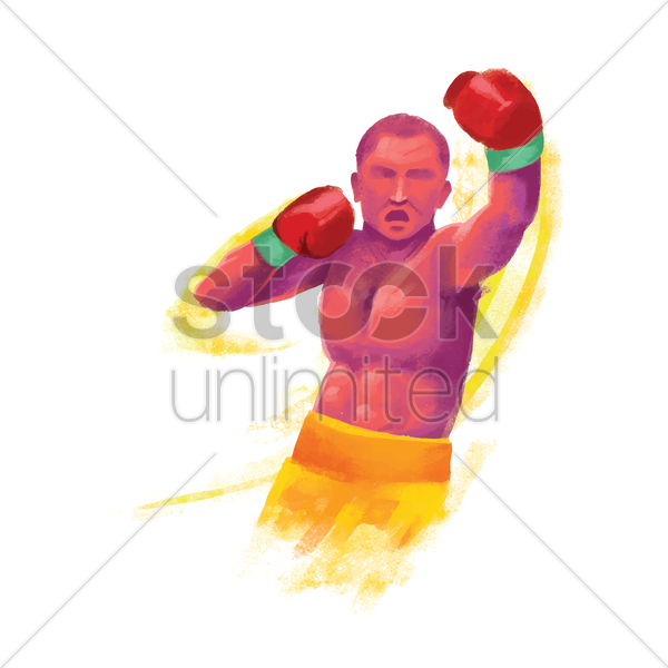sports competition boxing vector graphic