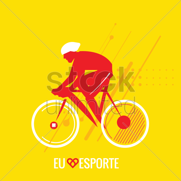 sports competition cyclist vector graphic