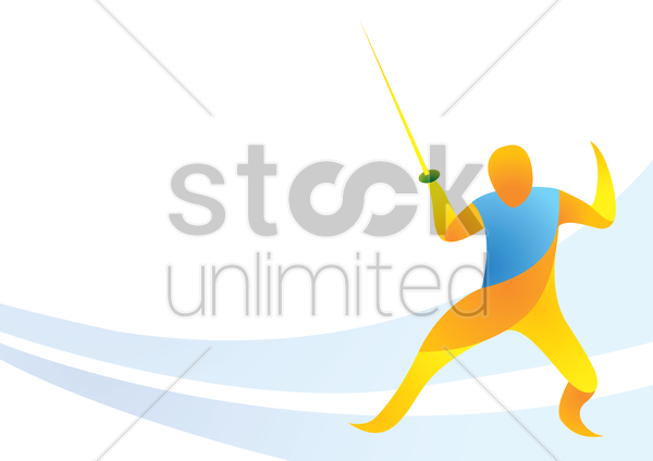 sports competition fencing vector graphic