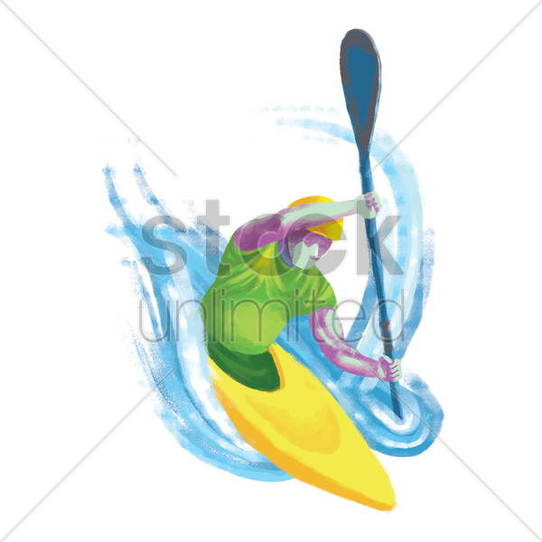 sports competition kayak vector graphic
