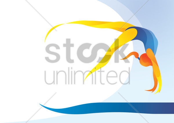 sports competition rhythmic gymnastic vector graphic