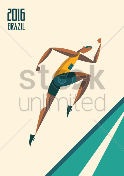 sports competition sprinter vector graphic