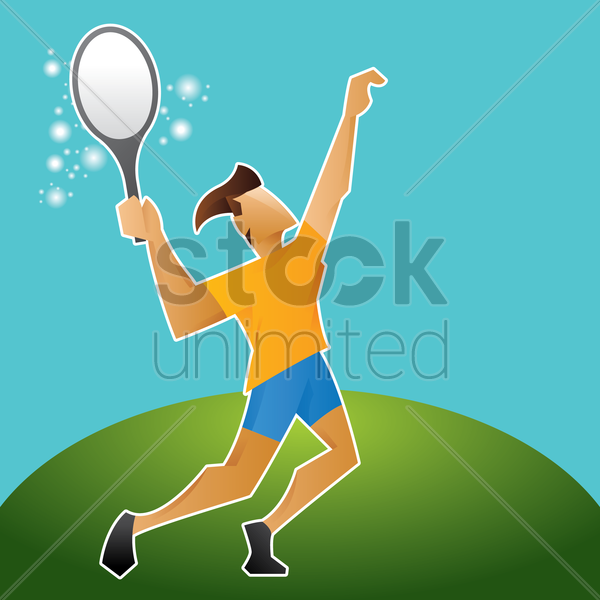 sports competition tennis vector graphic