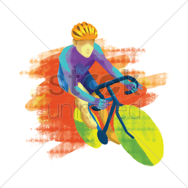 sports competition track cycling vector graphic