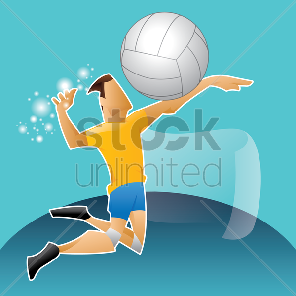 sports competition volleyball vector graphic