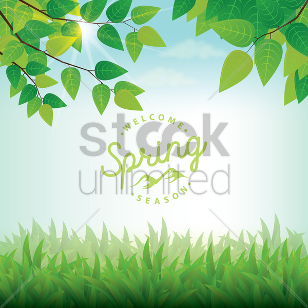 spring background vector graphic