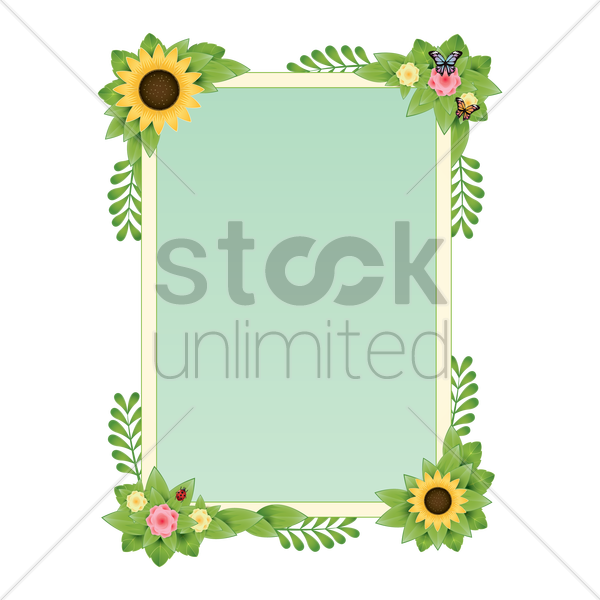 spring border design vector graphic