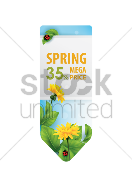 spring sale banner vector graphic