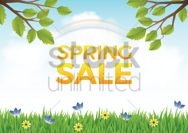 spring sale design vector graphic
