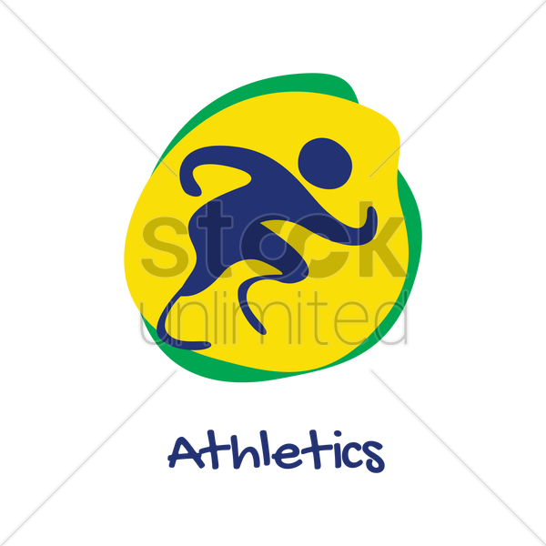 sprinting for athletes with disabilities vector graphic
